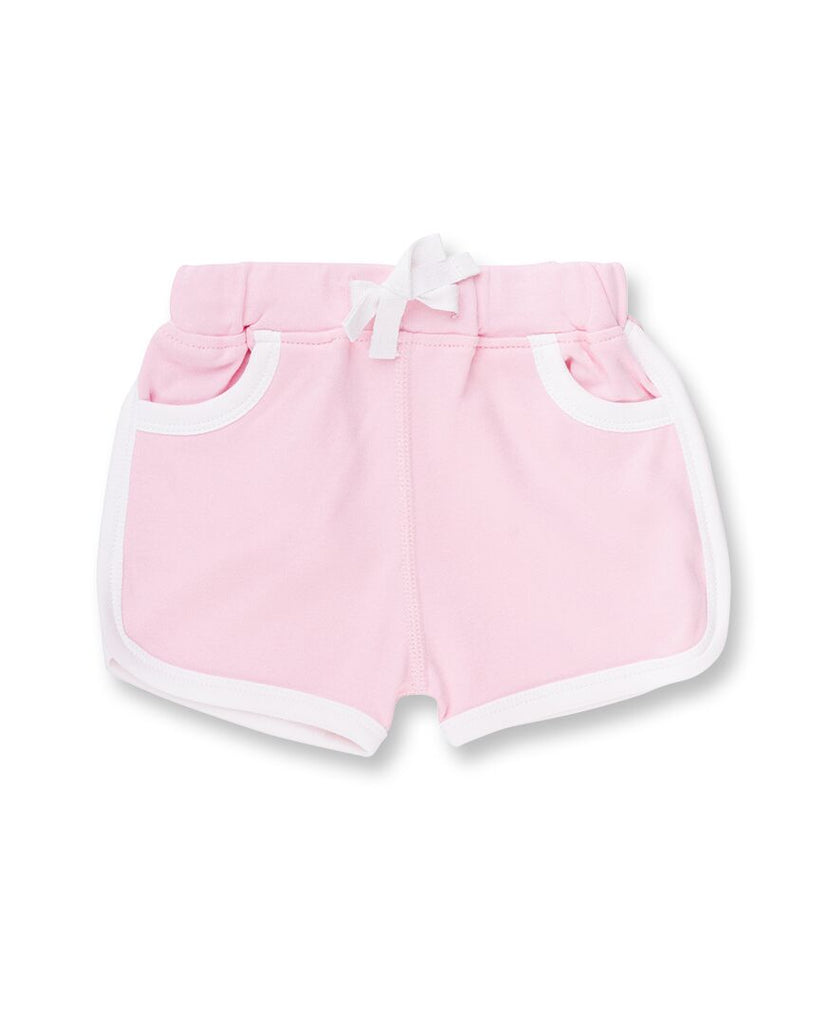 100% organic cotton pink baby girl shorts