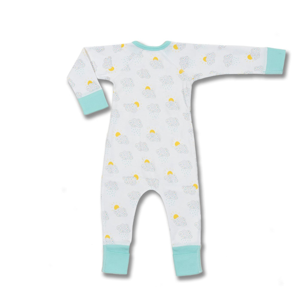 Organic Cotton Zip romper for babies