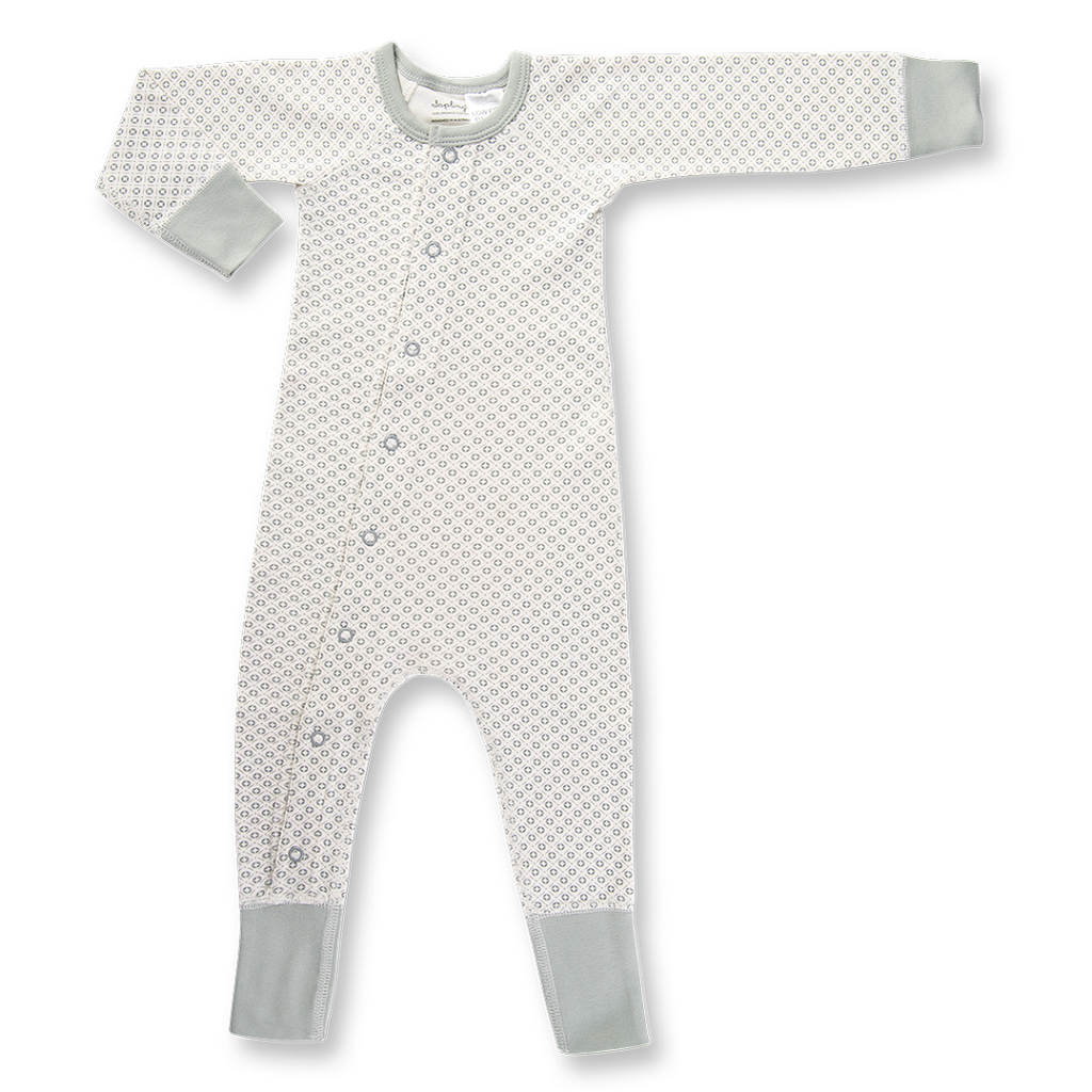 Gender Neutral Dove Grey Romper for Babies