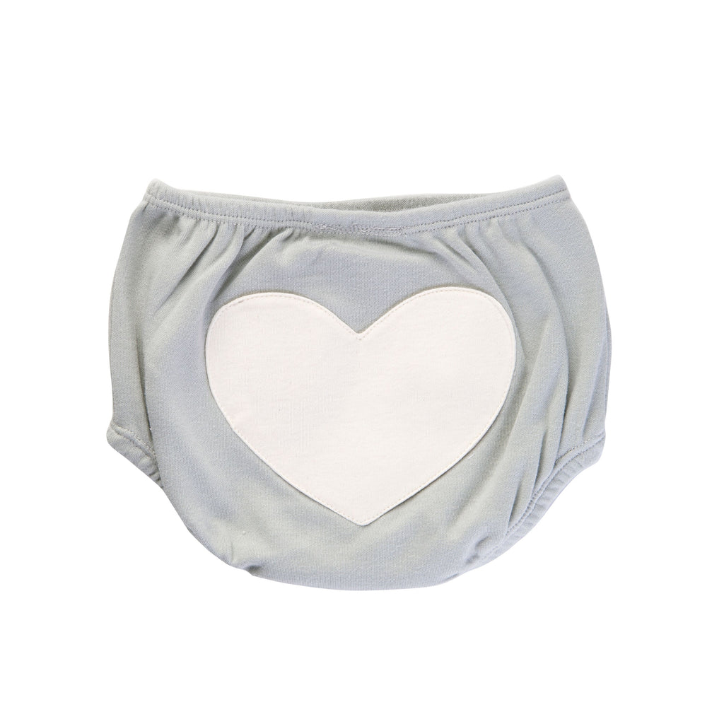Sapling Child Dove Grey Heart Bloomers