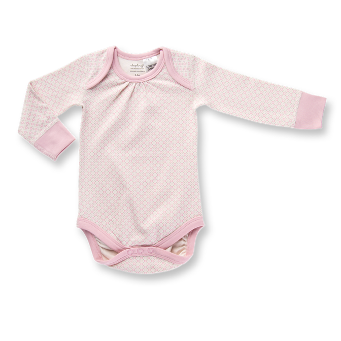 Sapling Child Dusty Pink Long Sleeve Bodysuit