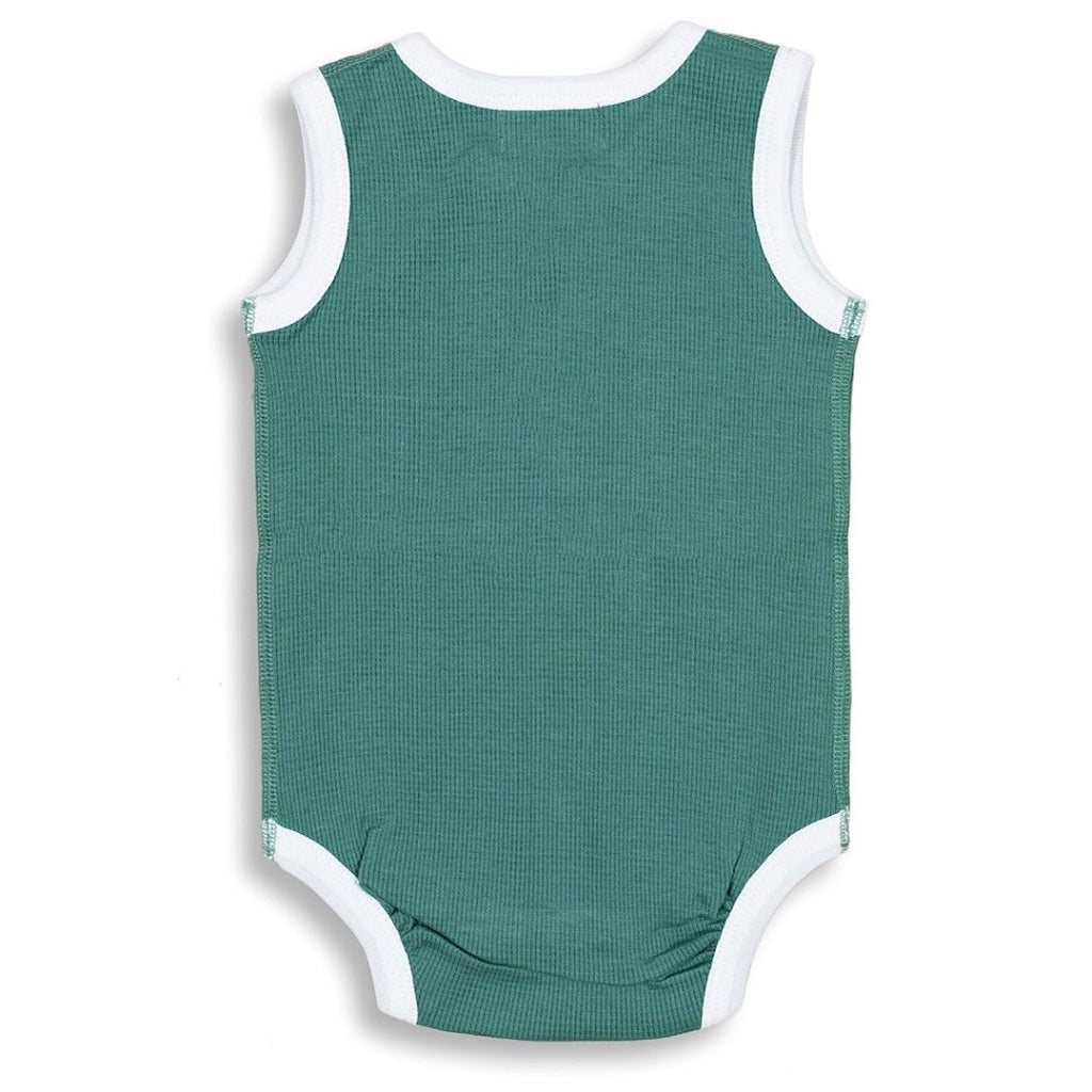 Waffle bodysuit for babies made from 100% soft organic cotton