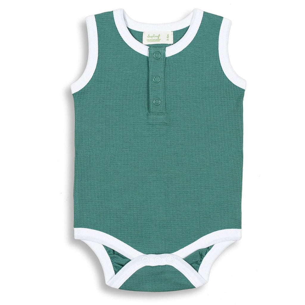 Soft Green bodysuit for babies and toddlers