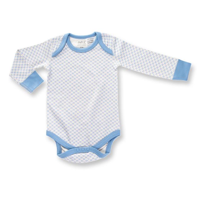 Sapling Child Little Boy Blue Long Sleeve Bodysuit