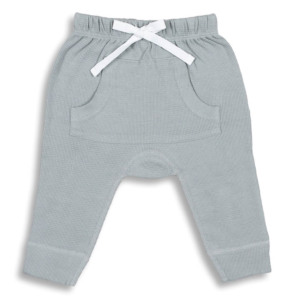 Unisex pants for babies made from 100% organic waffle cotton