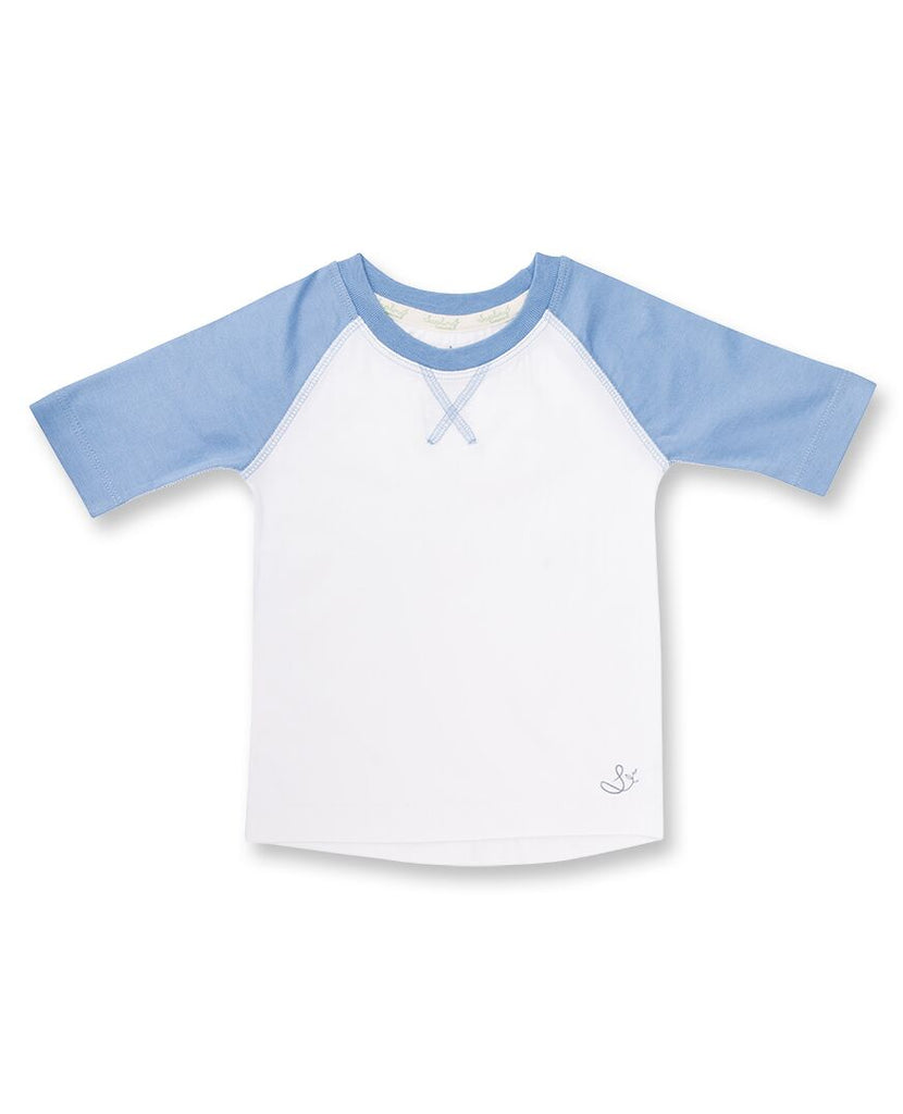 Blue and White Baby Tee Shirt