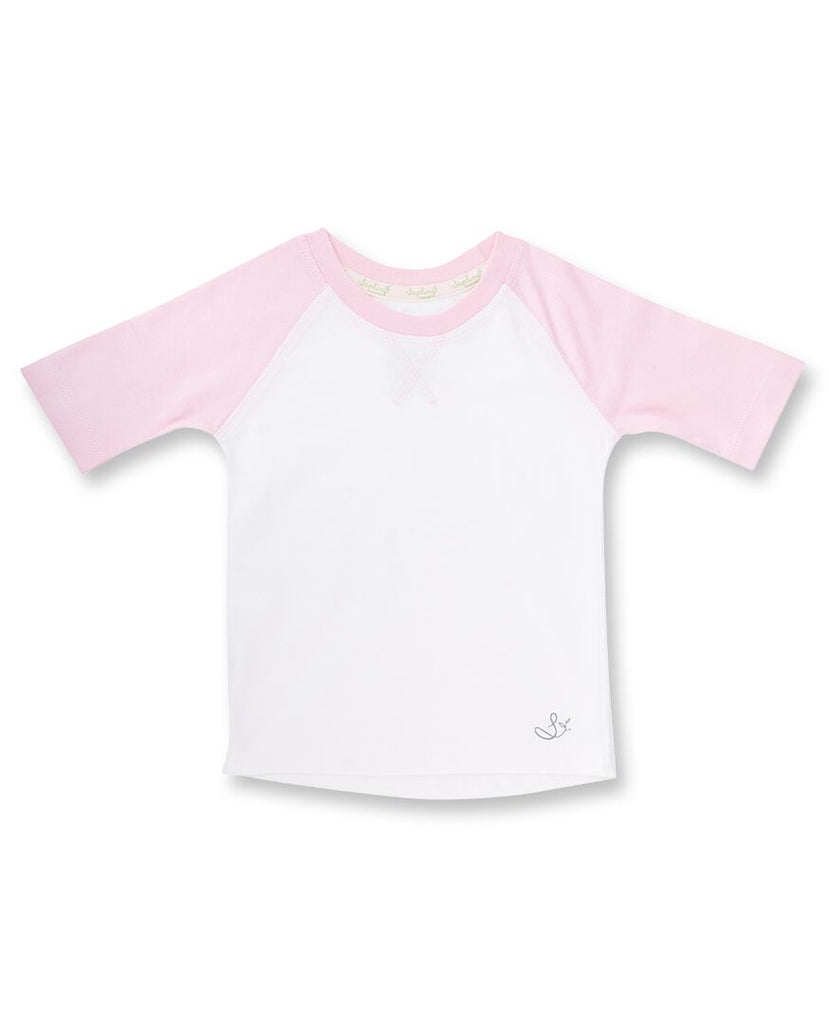 Sapling Child Rose Pink Raglan Tee