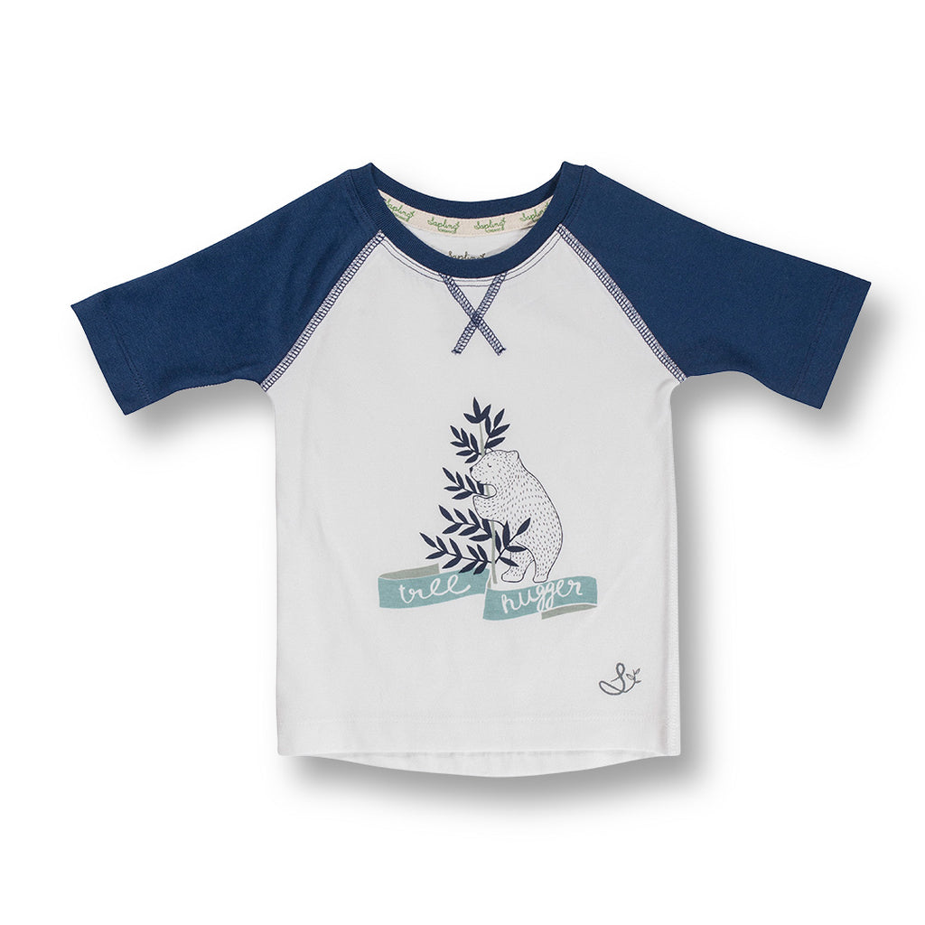 Sapling Child Tree Hugger Raglan Tee