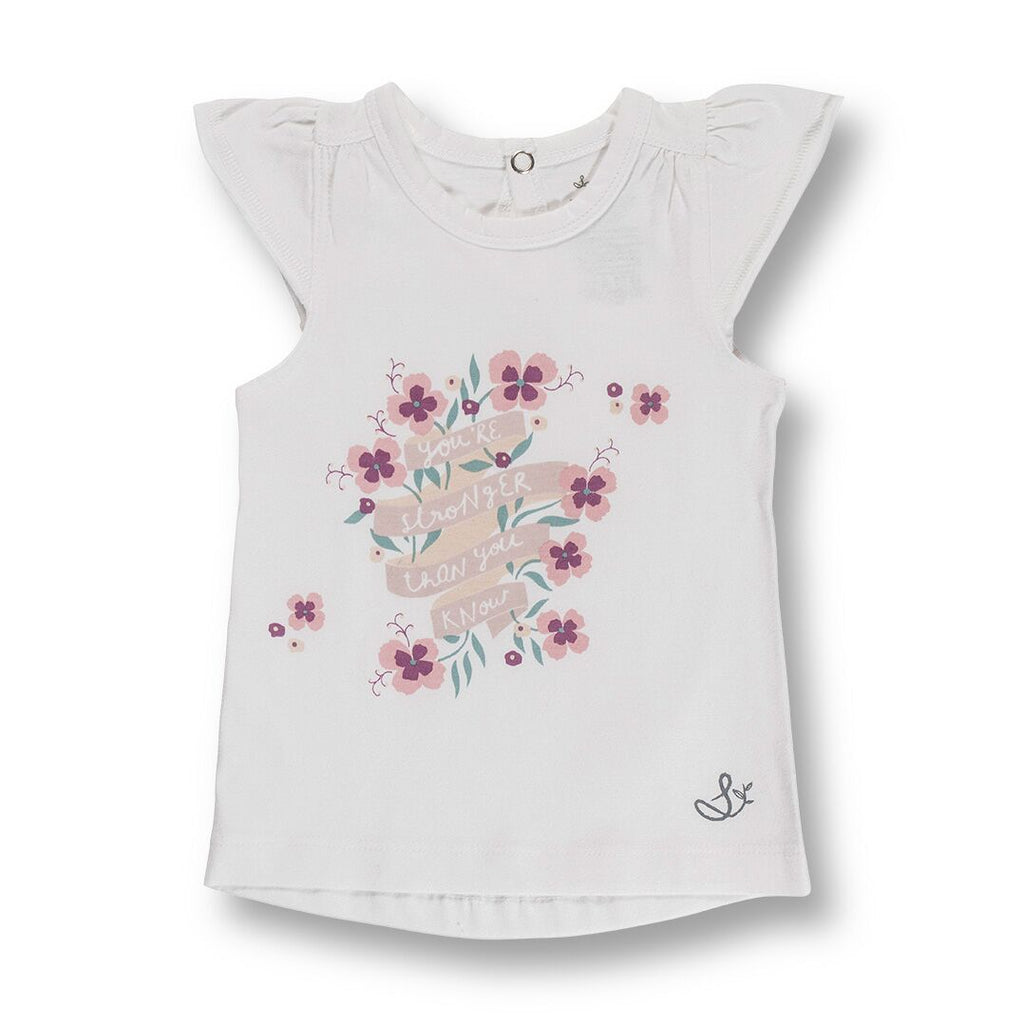 Sapling Child You're Stronger Flutter Sleeve Tee