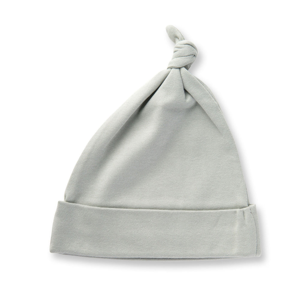 Sapling Child Dove Grey Knotted Hat