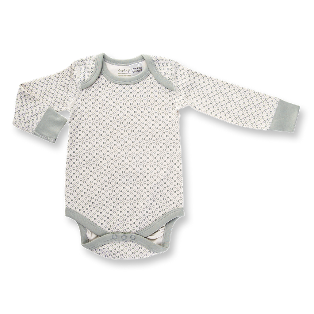 Sapling Child Dove Grey Long Sleeve Bodysuit