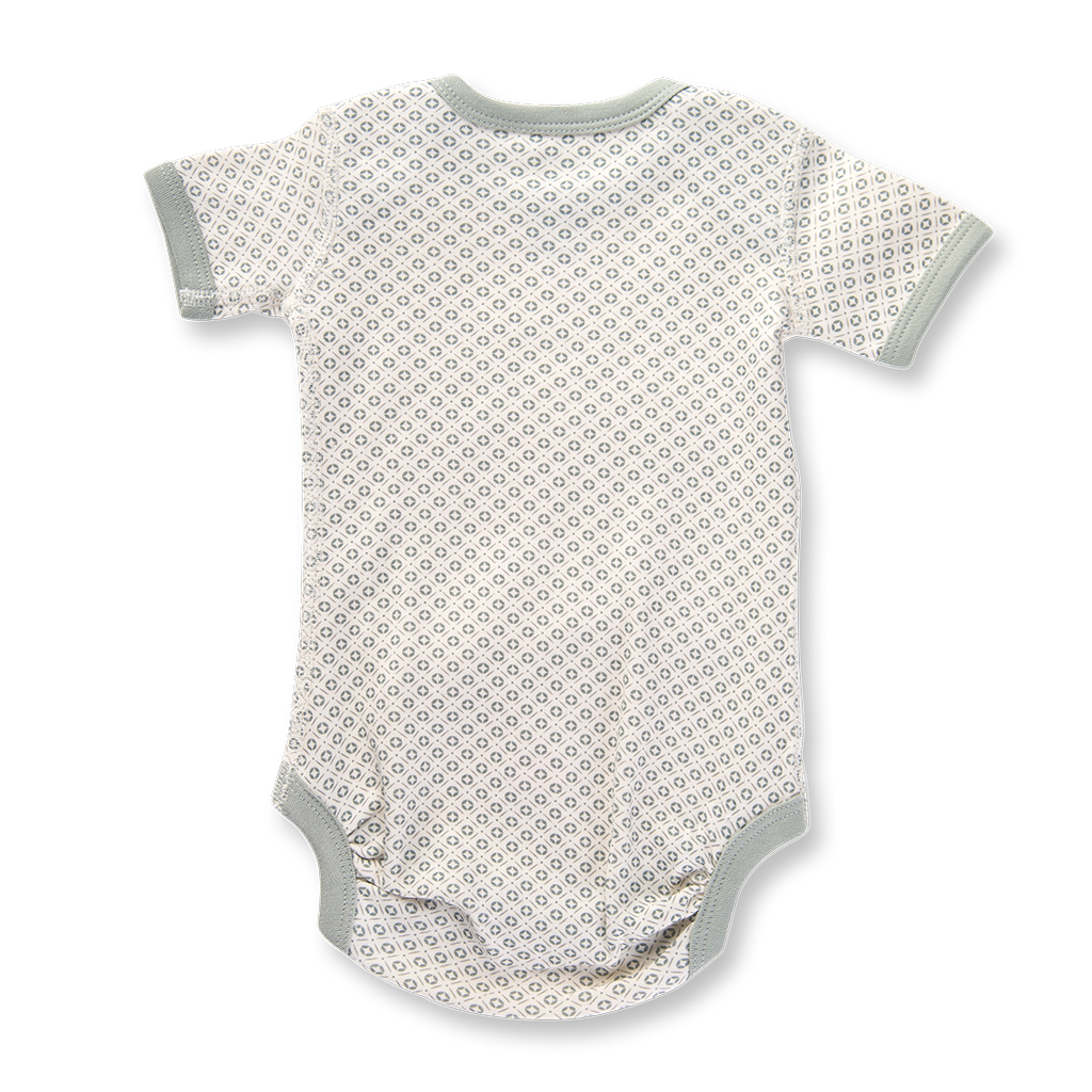 Sapling Child Dove Grey Short Sleeve Bodysuit