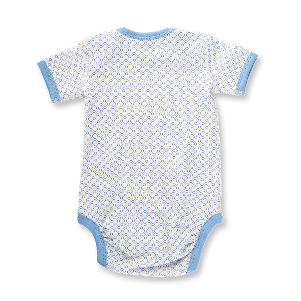 Sapling Child Little Boy Blue Short Sleeve Bodysuit
