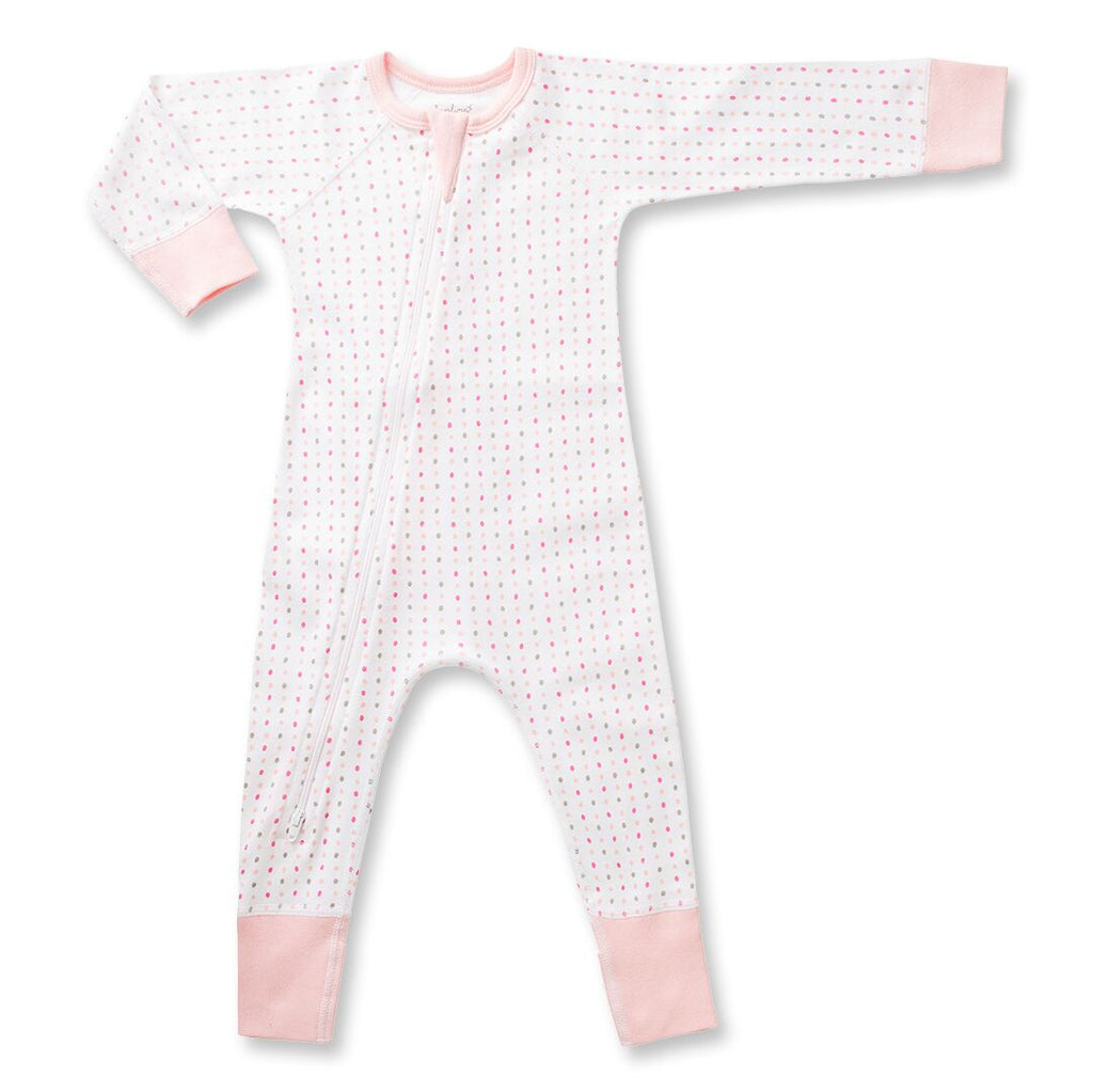 Sapling Child Pink Spotted Zip Romper