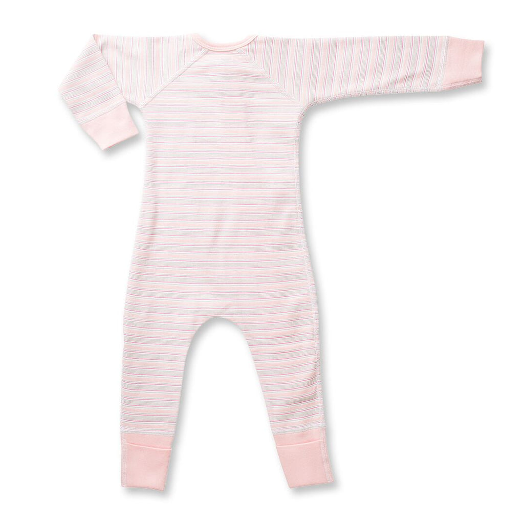 Sapling Child Pink Stripe Zip Romper