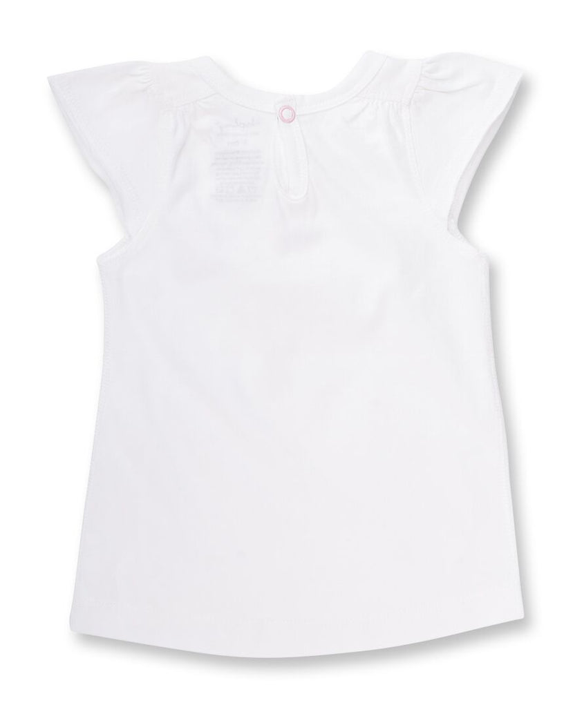 White Baby girl Tee Shirt for summer