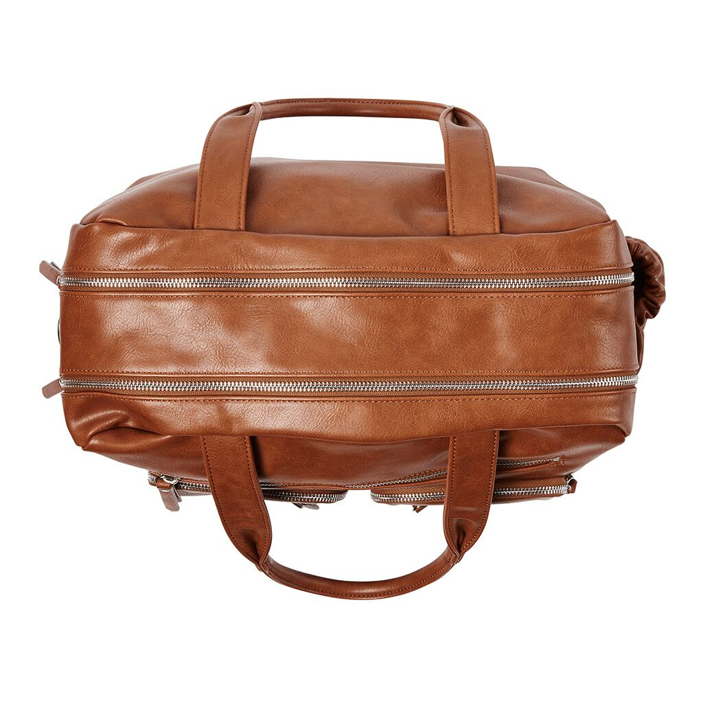 Baby bag from OiOi tan faux leather