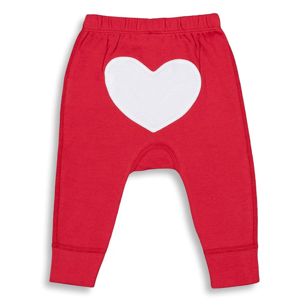 Red Heart Pants made from soft organic cotton for Babies