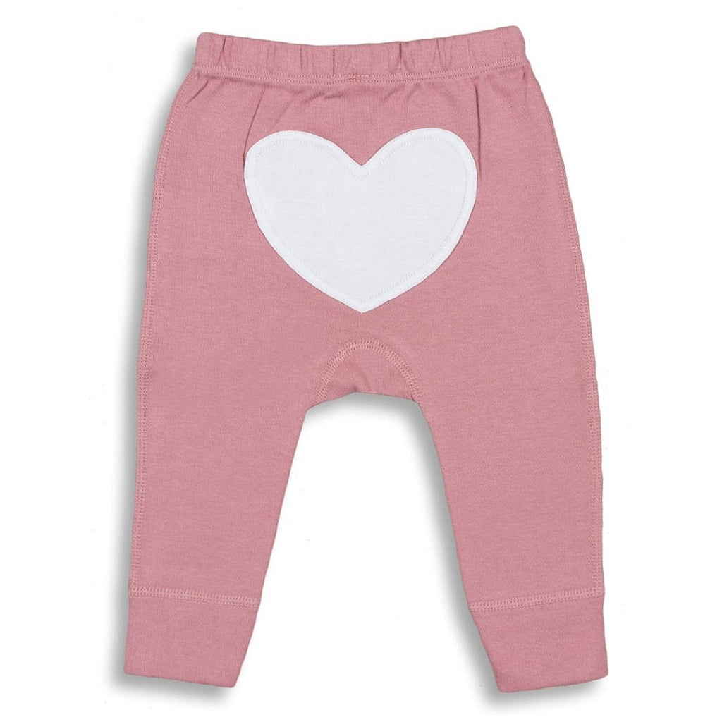 Pink Heart Pants for Babies