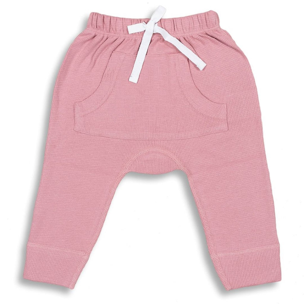 Long pants with extra nappy room for baby girls