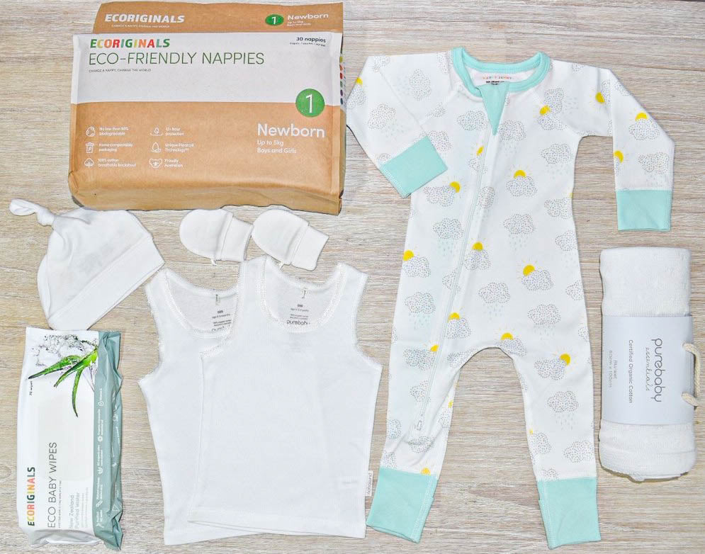 gender neutral pre-packed baby essentials