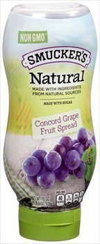 Smucker's Natural Concord Grape Squeeze Bottle Fruit Spread 19 oz - Buy Fast delivery