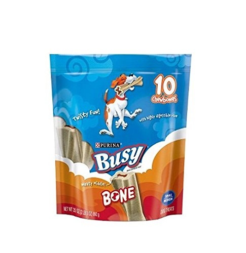 Busy Bone, Adult Dog Treats, 10 Ct. Tiny Chewbones, 6.5 Oz. - 2 Pack - Buy Fast delivery