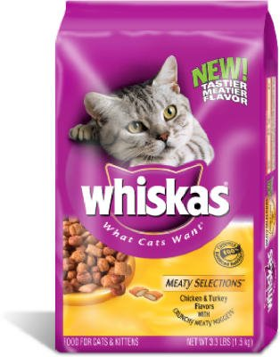 Whiskas Meaty Selections Dry Cat Food - 3 lb bag - Buy Fast delivery