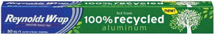 Reynolds Wrap Aluminum Foil from 100% Recycled Aluminum, 50-Square Feet (Pack of 3) - Buy Fast delivery