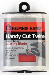 Helping Hand Handy Cut Cotton Twine with Twine Cutting Blade, 200 feet, 1-Pack - Buy Fast delivery