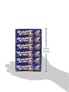 Bubble Yum Cotton Candy Bubble Gum - Soft and Easy to Chew, Long-Lasting Original Flavor - 5 Pieces, Pack of 18 - Buy Fast delivery