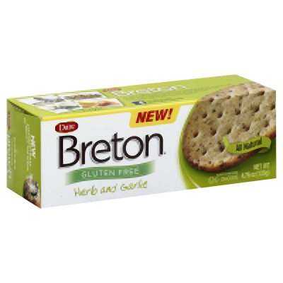 Breton Herb & Garlic Crackers, Gluten Free 4.76 Oz (Pack of 6) - Buy Fast delivery