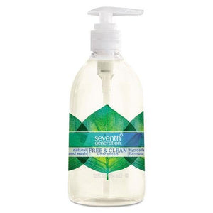 SeventhGeneration 22930 Natural Hand Wash, Just Clean - Unscented, 12 oz Pump Bottle - Buy Fast delivery
