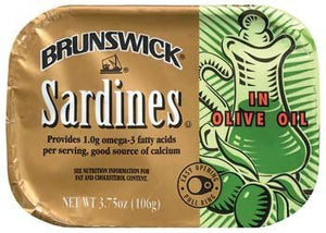 Brunswick Sardines in Olive Oil 3.75 Oz (Pack of 6) - Buy Fast delivery