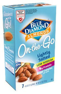 Blue Diamond Lightly Salted Almonds 100 Calorie Bags (Case of 6) - Buy Fast delivery