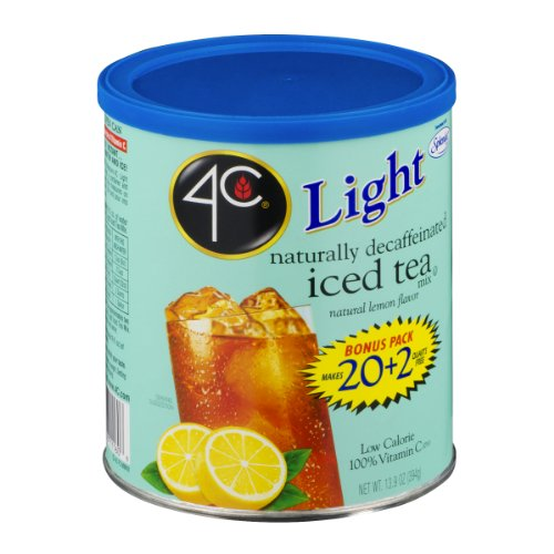 4C Light Decaffeinated Iced Tea Mix Natural Lemon Flavor - Buy Fast delivery