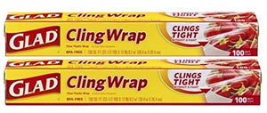 Glad Plastic Cling Wrap, 100 Sq. Ft. Roll 2-pack (200 Sf Total) - Buy Fast delivery