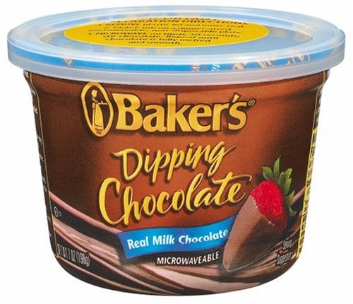 Baker's Dipping Chocolate, Milk Chocolate, 7-Ounce Microwavable Tubs (Pack of 8) - Buy Fast delivery