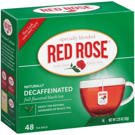 Red Rose Decaffeinated Tea, 48 Count (Pack of 4) - Buy Fast delivery