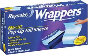 Reynolds Wrappers Aluminum Foil Sheets, 50-Count  (Pack of 9) - Buy Fast delivery