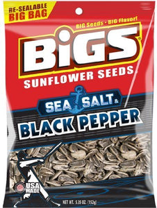 Bigs Sea Salt and Cracked Pepper Sunflower Seeds, 5.35 Ounce (Pack of 3) - Buy Fast delivery