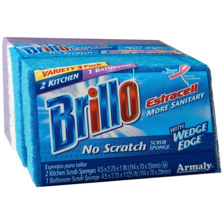 Brillo Estracell No-Scratch Wedge Edge Varity Kitchen & Bath, 3 Count - Buy Fast delivery