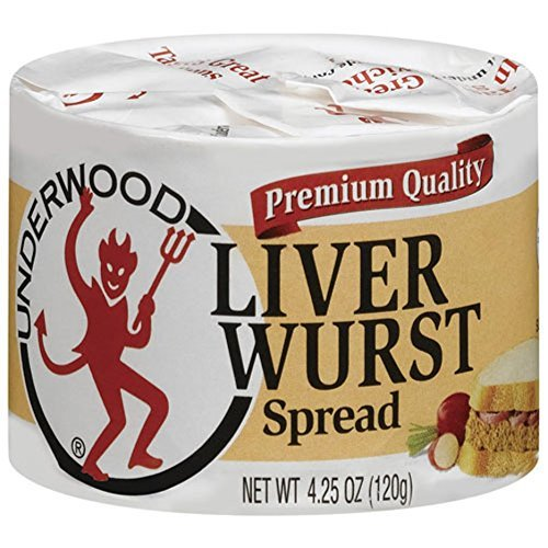 Underwood Liver Wurst Spread, 4.25oz Can (Pack of 6) - Buy Fast delivery