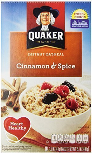 Quaker Instant Oatmeal Cinnamon Spice - 1.51 oz - 10 ct - 2 Pack - Buy Fast delivery