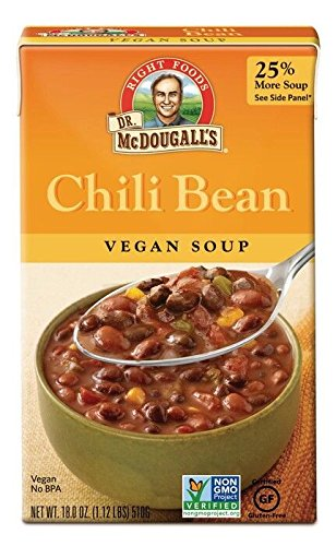 Dr. McDougall's Right Foods Soup, Chili Bean, 18-Ounce (Pack of 6) - Buy Fast delivery