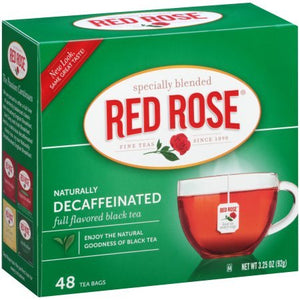 Red Rose Naturally Decaffeinated Tea 48-Count Boxes (Pack of 2) - Buy Fast delivery