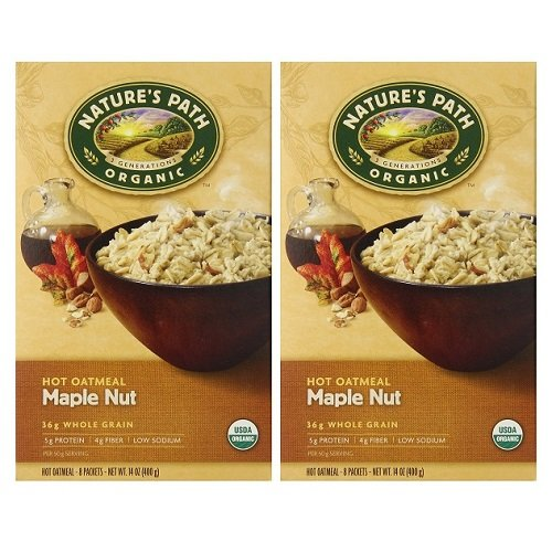Nature's Path Organic Maple Nut Oatmeal 14 Oz. 8 Packets (2 Pack) - Buy Fast delivery