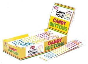 CANDY BUTTONS by Necco twenty four 2-strip packs (48 strips) - Buy Fast delivery