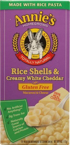 Annie's Homegrown Rice Shells and Creamy White Cheddar Gluten Free Macaroni & Cheese (Pack of 6) - Buy Fast delivery