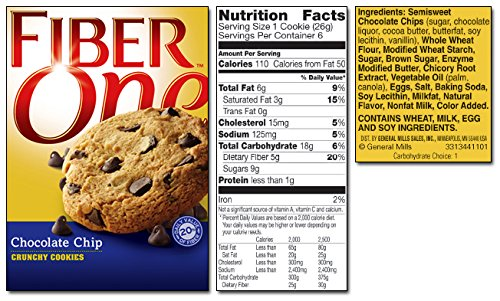General Mills, Fiber One, Cookies, 6 Count (0.92oz Each), 5.52oz Box (Pack of 3) (Choose Flavors Below) - Buy Fast delivery
